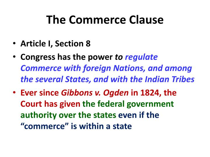 The Commerce Clause