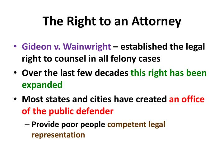 The Right to an Attorney