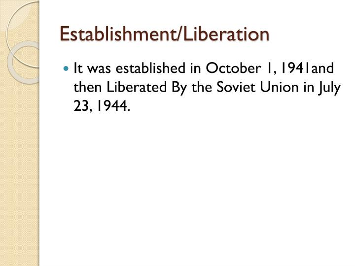 Establishment/Liberation