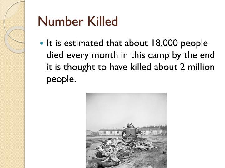 Number Killed