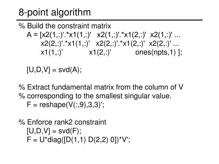 8-point algorithm