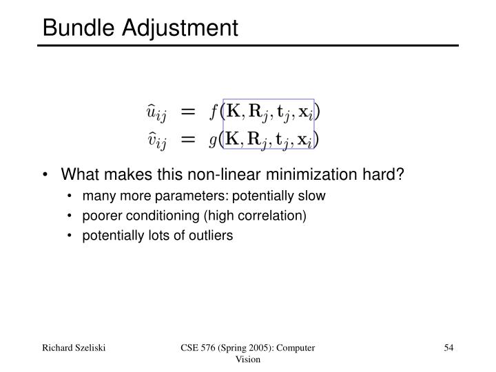 Bundle Adjustment