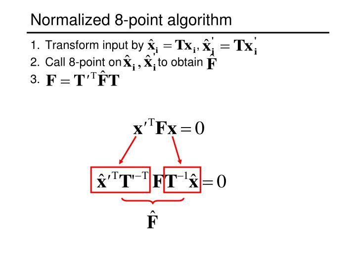 Normalized 8-point algorithm