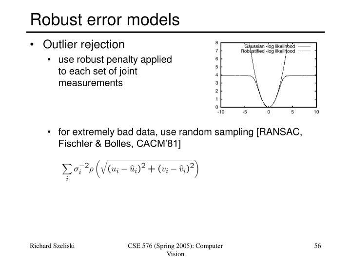 Robust error models