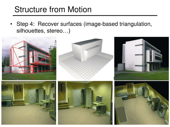 Structure from Motion