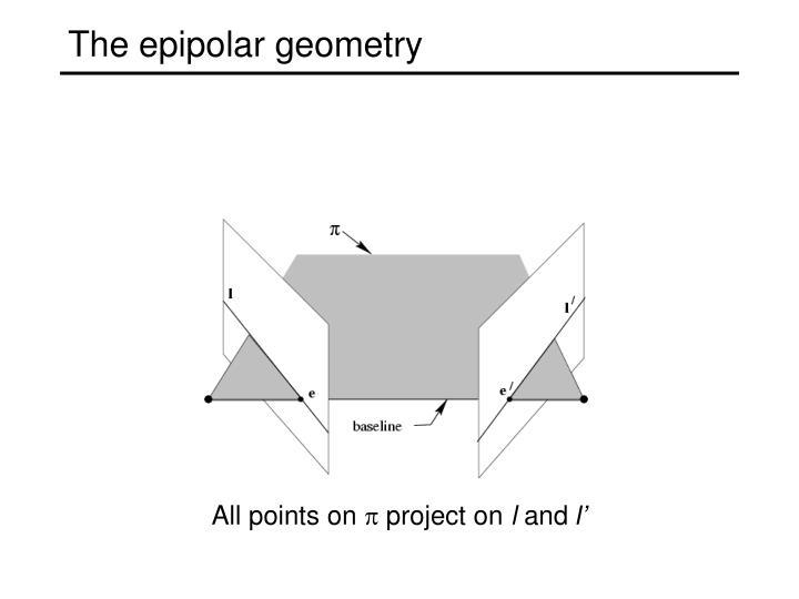 The epipolar geometry