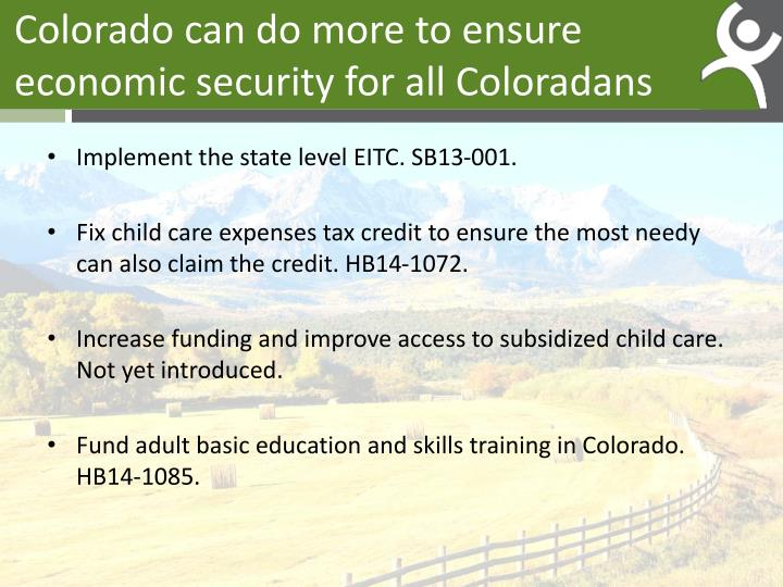 Colorado can do more to ensure economic security for all Coloradans