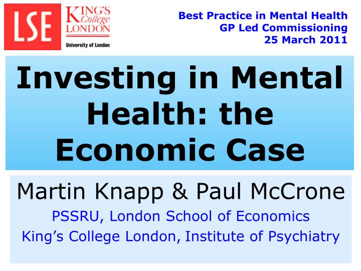 Best Practice in Mental Health GP Led Commissioning