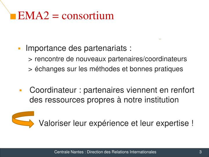 EMA2 = consortium