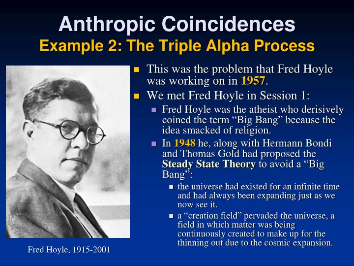 Anthropic Coincidences