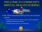 welcome to community mental health nursing