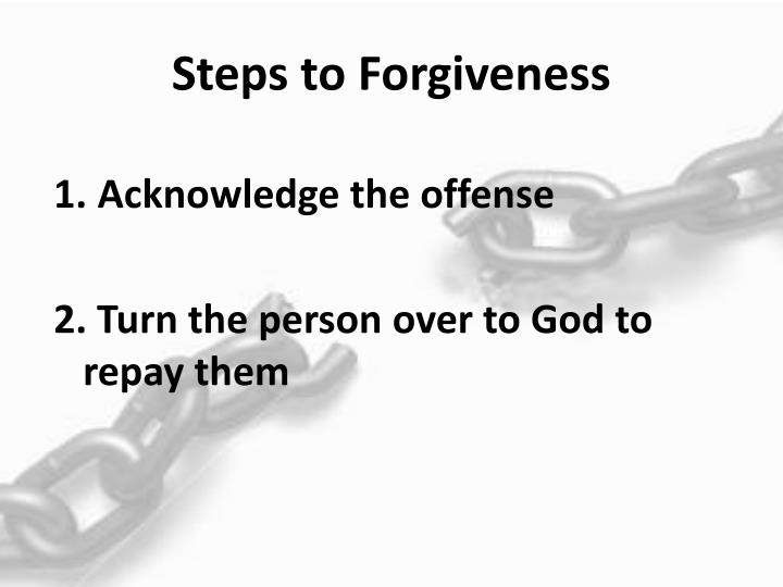 Steps to Forgiveness