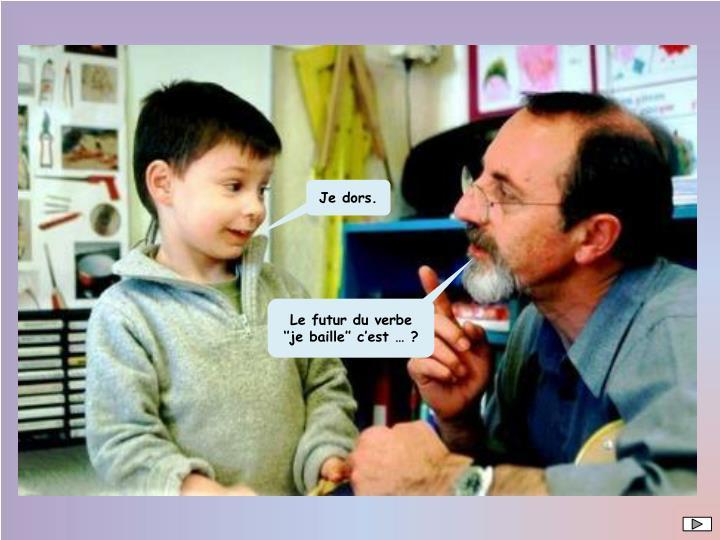 Le futur du verbe ''je baille'' c'est … ?