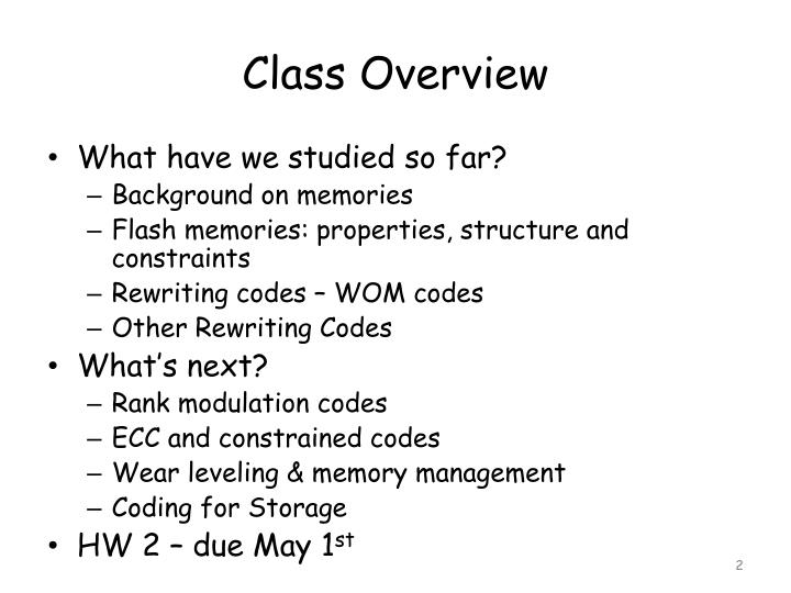 Class Overview