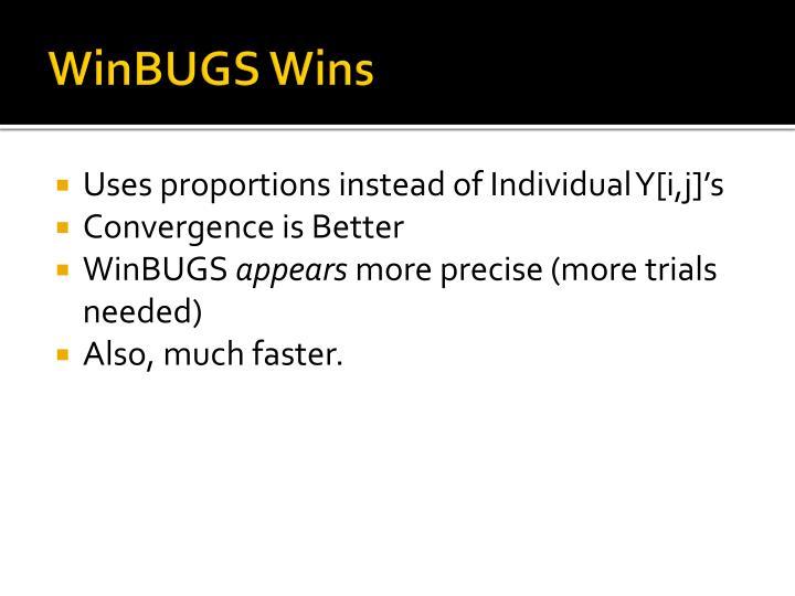 WinBUGS Wins