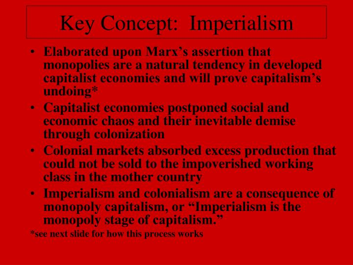 Key Concept:  Imperialism