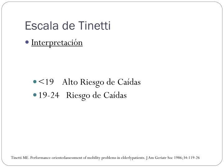 Escala de Tinetti