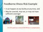 foodborne illness risk example
