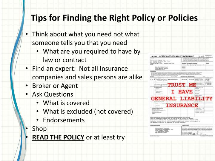 Tips for Finding the Right Policy or Policies