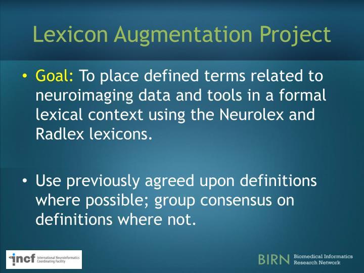 Lexicon Augmentation Project