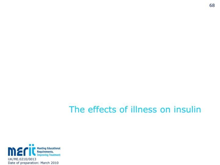 The effects of illness on insulin