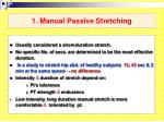 1 manual passive stretching