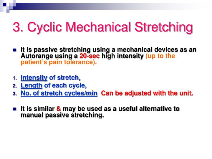 3. Cyclic Mechanical Stretching