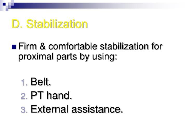 D. Stabilization
