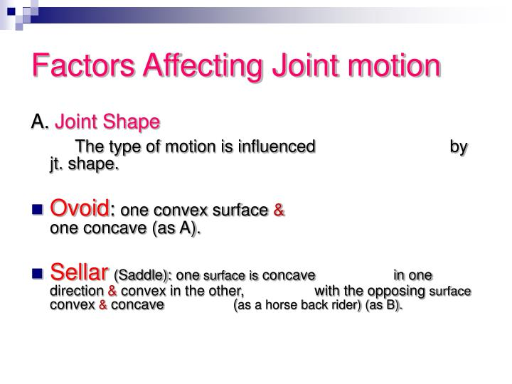 Factors Affecting Joint motion