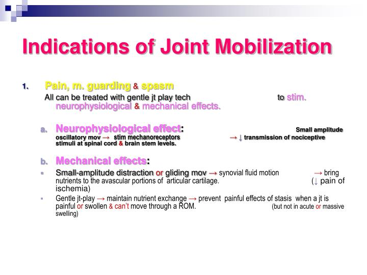 Indications of Joint Mobilization