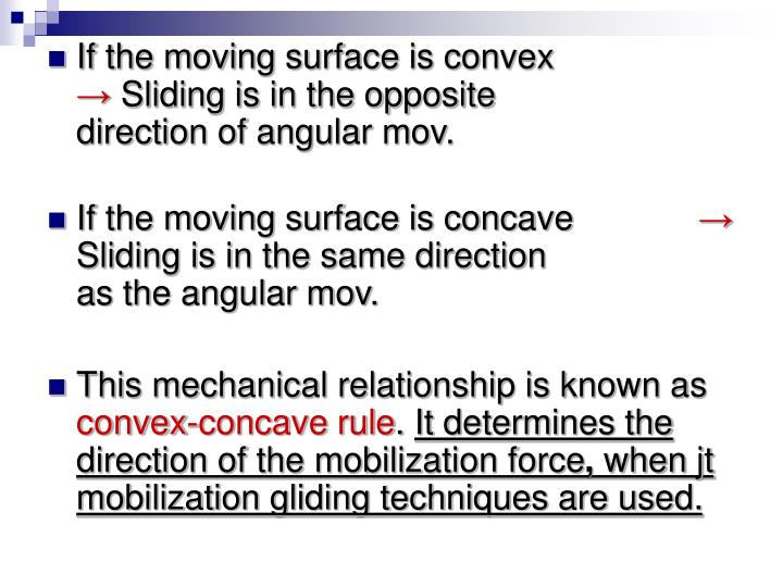 If the moving surface is convex