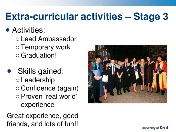 Extra-curricular activities – Stage