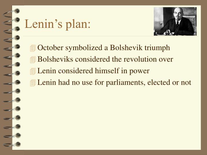 Lenin's plan:
