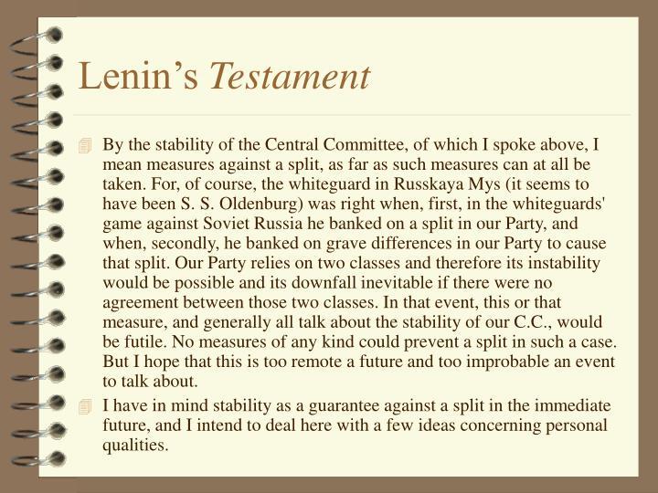 Lenin's
