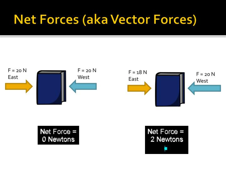 Net Forces (aka Vector Forces)