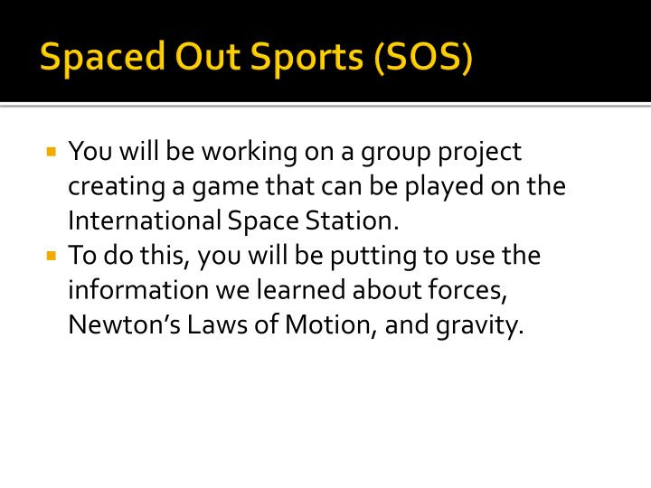 Spaced Out Sports (SOS)