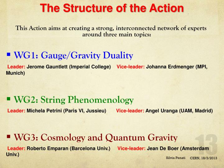 The Structure of the Action