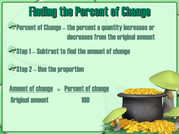 Finding the percent of change