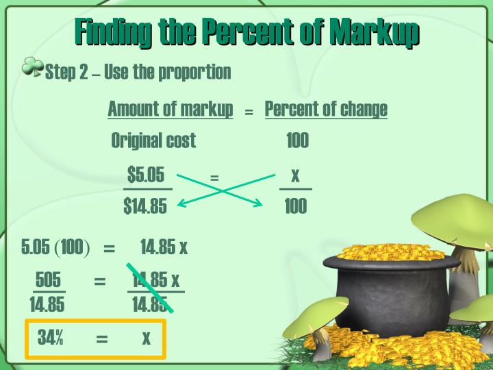 Finding the Percent of Markup