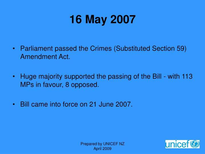 16 May 2007