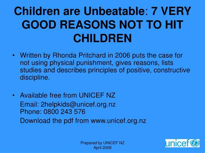 Children are Unbeatable