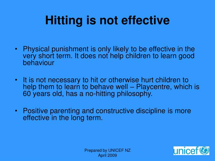 Hitting is not effective