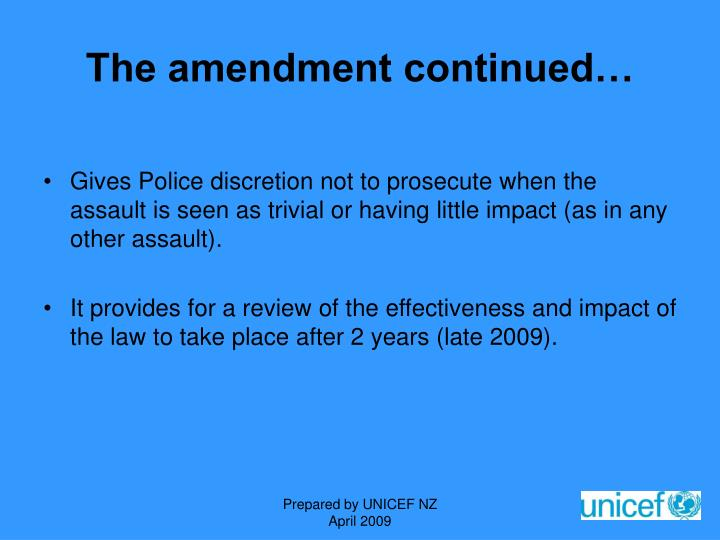 The amendment continued…