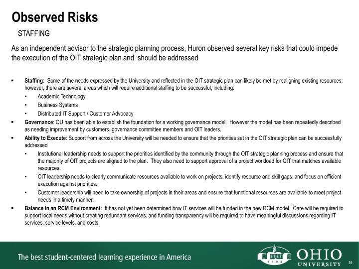 Observed Risks