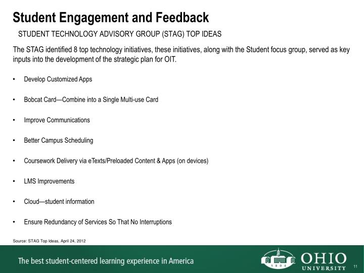 Student Engagement and Feedback