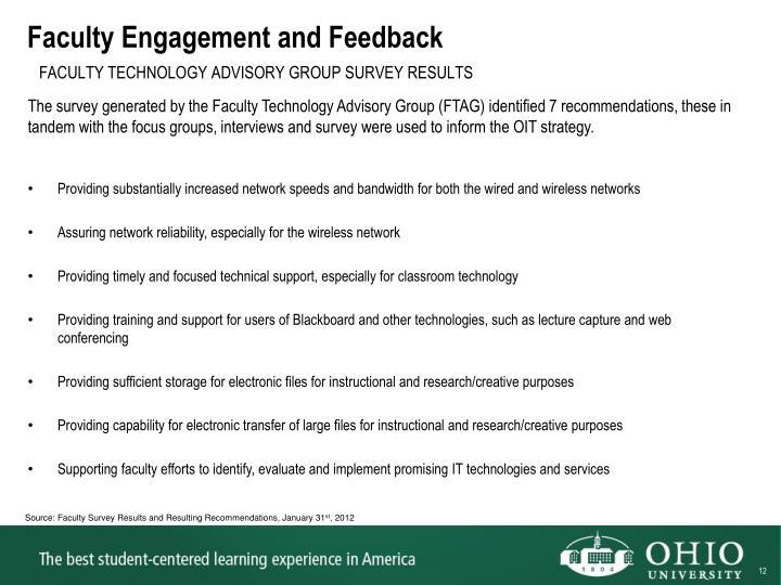 Faculty Engagement and Feedback