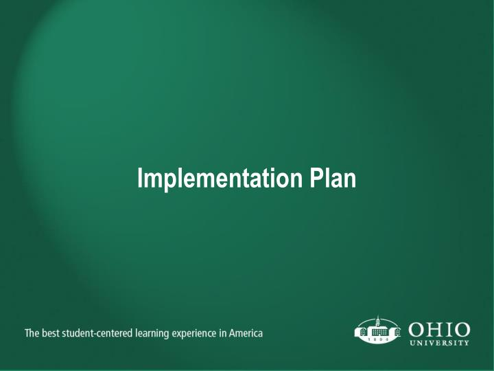 Implementation Plan