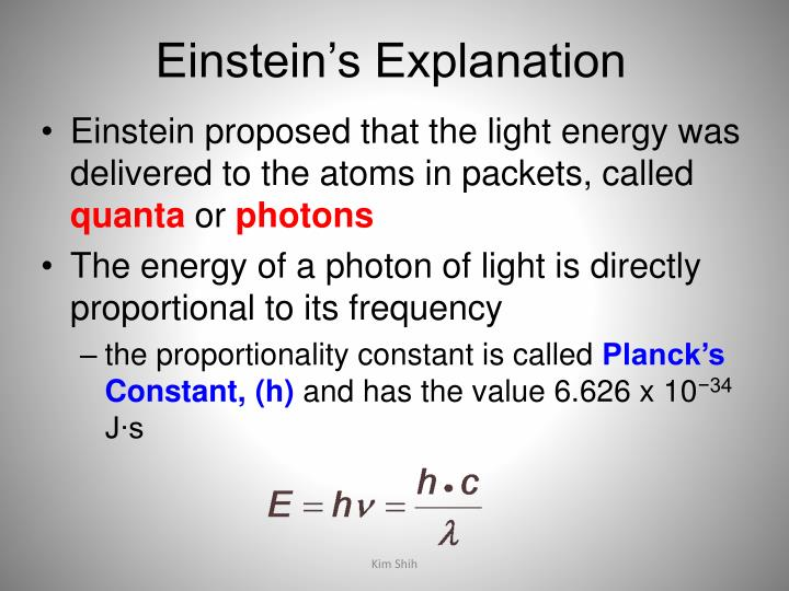 Einstein's Explanation