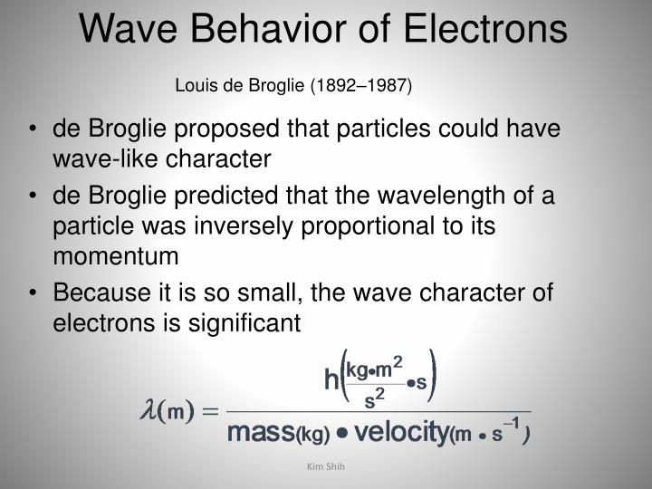 Wave Behavior of Electrons