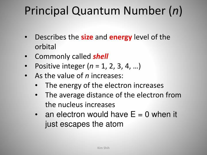Principal Quantum Number (